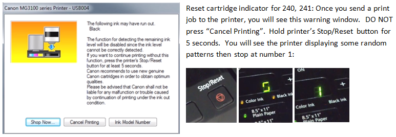 How to refill Canon PG30, PG40, PG50, PG210, PG240, CL241