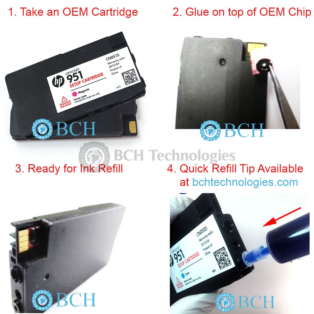 How to reset the cartridge No. 123 from the MFP hp deskjet 2130 after refilling the cartridge is empty and does not print